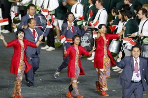 Indonesia Contingent in London Olympics 2012