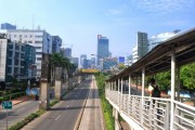 Jakarta streets without traffic