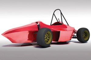 The Mushika Team race car from the Bandung Institute of Technology