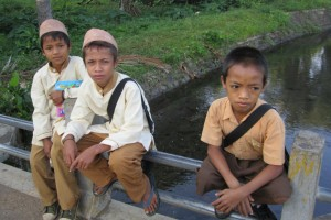 Students in Indonesia.