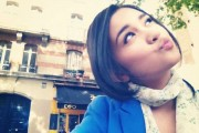 Michelle Zudith, actress in Indonesian soap opera 'Love in Paris'.