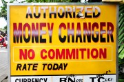 "Indonesia money changer, no ""commition""."