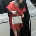 Angel Lelga using Hermes Bag Fashion Style