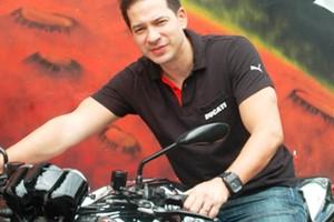 Ari Wibowo with his Ducati Superbike
