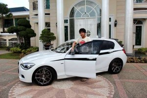 Muhammad with his new BMW series 1