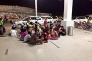 Resident Having Picnic Outside Kuala Namu Airport
