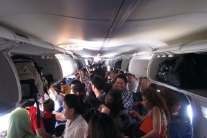 Inside Hot Plan Cabin during Lion Air Flight