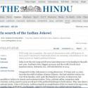 Jokowi in The Hindu for India Newspaper