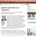 Jokowi in New Straits Times Malaysia Newspaper