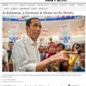 Jokowi City Venture Style Story Covered by New York Times