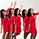 AirAsia stewardesses.