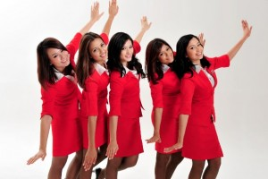 AirAsia stewardesses.
