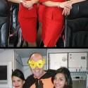 Air Asia Stewardess with Super Hero Costume